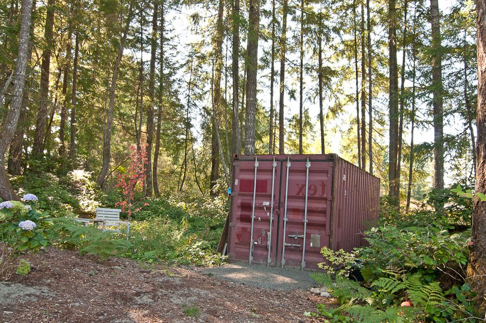 Shipping Container Storage Shed   Industrial Shed Also Hydrangea Shed Storage Woods