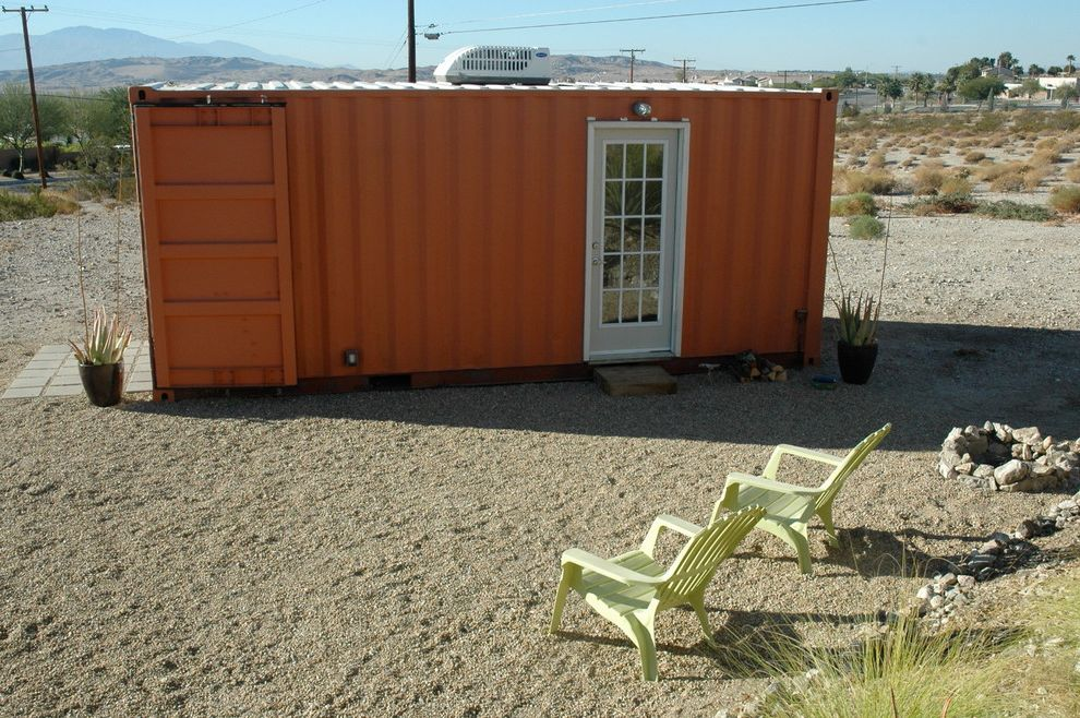 Shipping Container Storage Shed   Modern Shed Also Cargotecture Desert French Door Green Lounge Chair Orange Outbuilding Patio Sand Shipping Container Studio Telephone Pole
