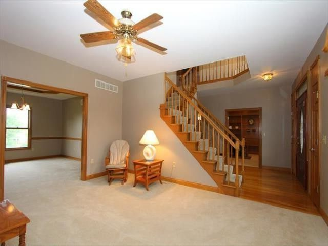 Sibcy Cline Cincinnati Ohio   Transitional Living Room Also Ceiling Fan with Light Formal Living Area Wall to Wall Carpeting