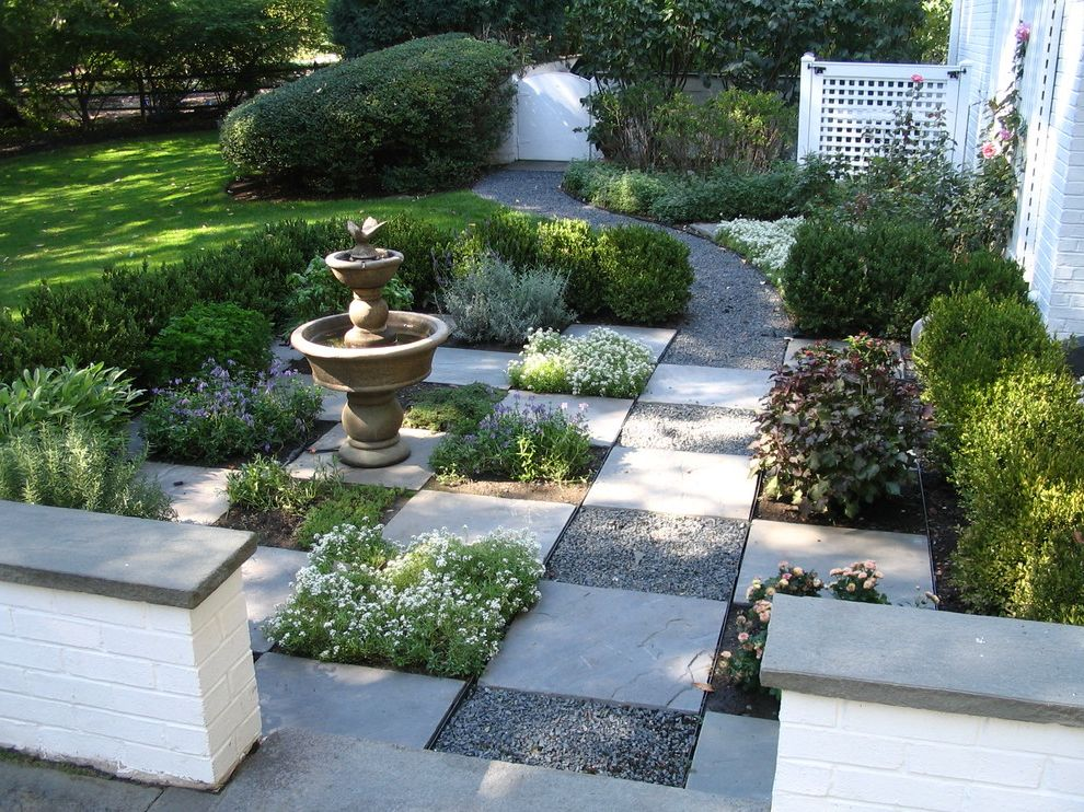 Square Foot Garden Planner   Traditional Landscape Also Concrete Garden Gate Gravel Gravel Path Hedge Landscaping Lattice Painted Brick Slate Stepping Stones Water Feature