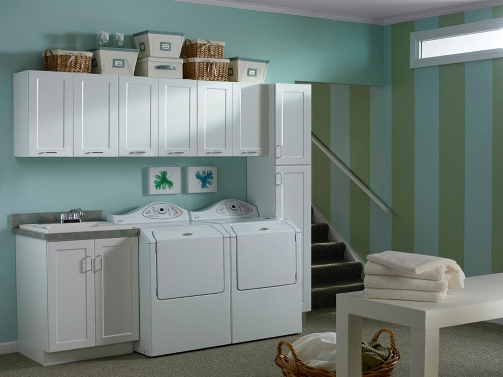 Stackable Washer and Dryer Reviews with Contemporary Laundry Room  and Laundry Room Shaker Kitchen Cabinets White Cabinets