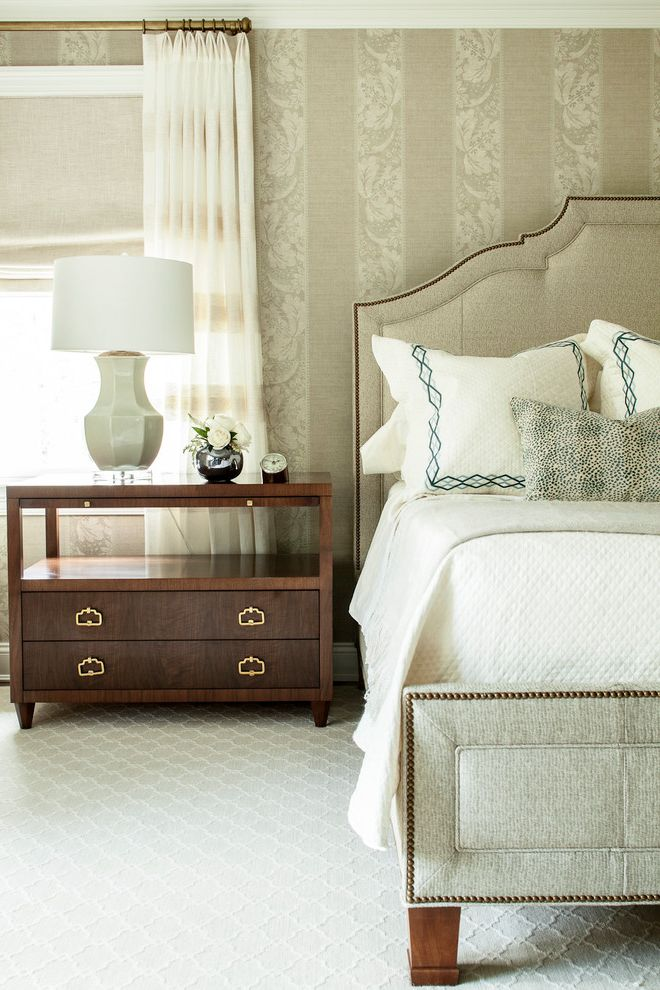 Target Night Stand   Transitional Bedroom  and Wallpaper