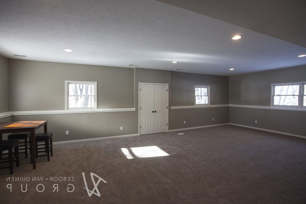 Thrasher Basement   Transitional Spaces  and Before and After Photos Bi Level House Home Staging Sherwin Williams Sherwin Williams Nacre Split Level Home