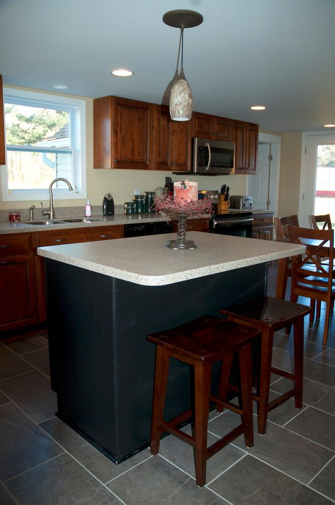 Tlc Salisbury Md   Farmhouse Kitchen  and Diamond Cabinetry Lg Hi Macs Sugarloaf Whiskey Black