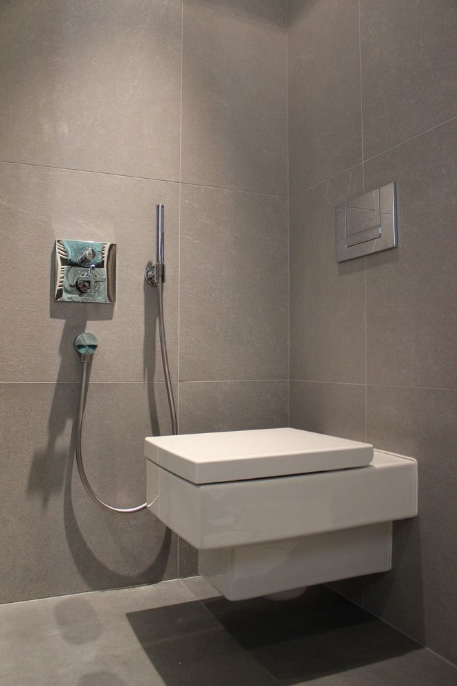 Toilet Bidet Combo   Contemporary Bathroom  and Contemporary