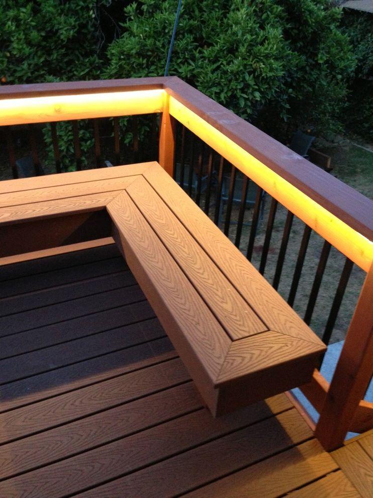 Trex Madeira   Contemporary Deck Also Alex Lara Bench Composite Deck Led Strip Light Lighting Ojai Redwood Ventura