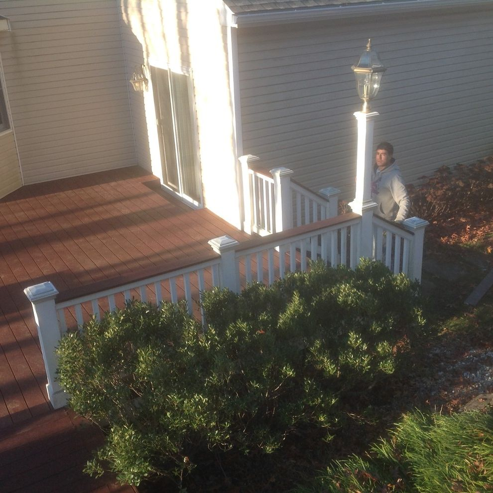 Trex Madeira with  Spaces Also Composite Decks Deck Deck Builder Decks the Deck Guy Trex