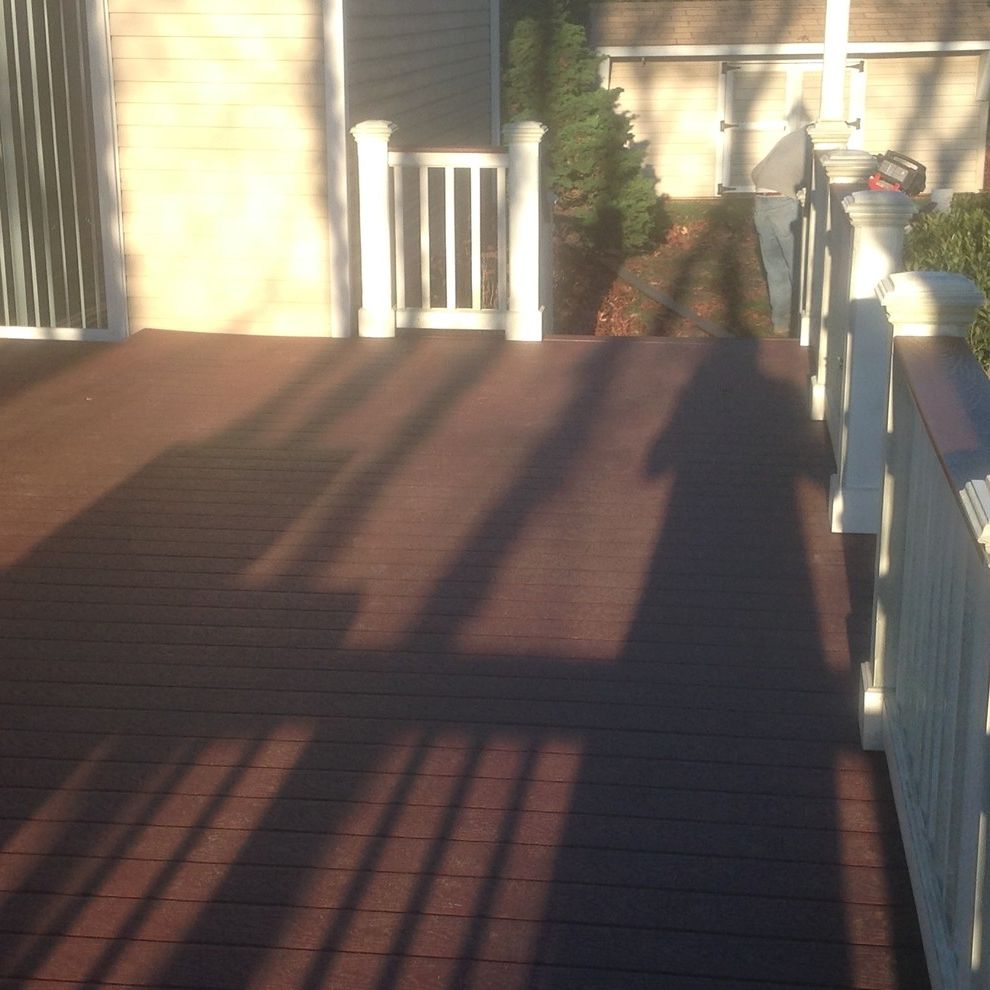 Trex Madeira with  Spaces  and Composite Decks Deck Deck Builder Deck Construction Deck Contractor Decks the Deck Guy Trex