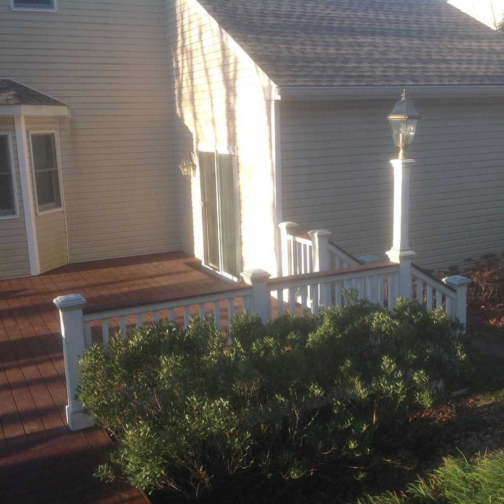 Trex Madeira with  Spaces  and Deck Decks Trex