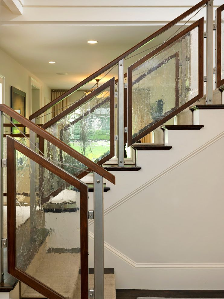 Unique Champagne Glasses with Contemporary Staircase Also Glass Staircase Glossy Leaded Glass Modern Staircase Staircase Staircase Runner Wood Railing