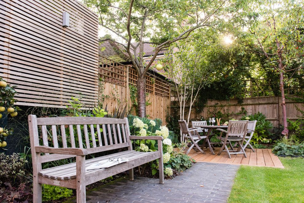 Used Furniture Fort Collins with Traditional Patio  and Brick Decking Garden Furniture Horizontal Fence Horizontal Trellis Hydrangea Annabelle Lawn Outdoor Dining Pavers Wood Bench Wooden Furniture