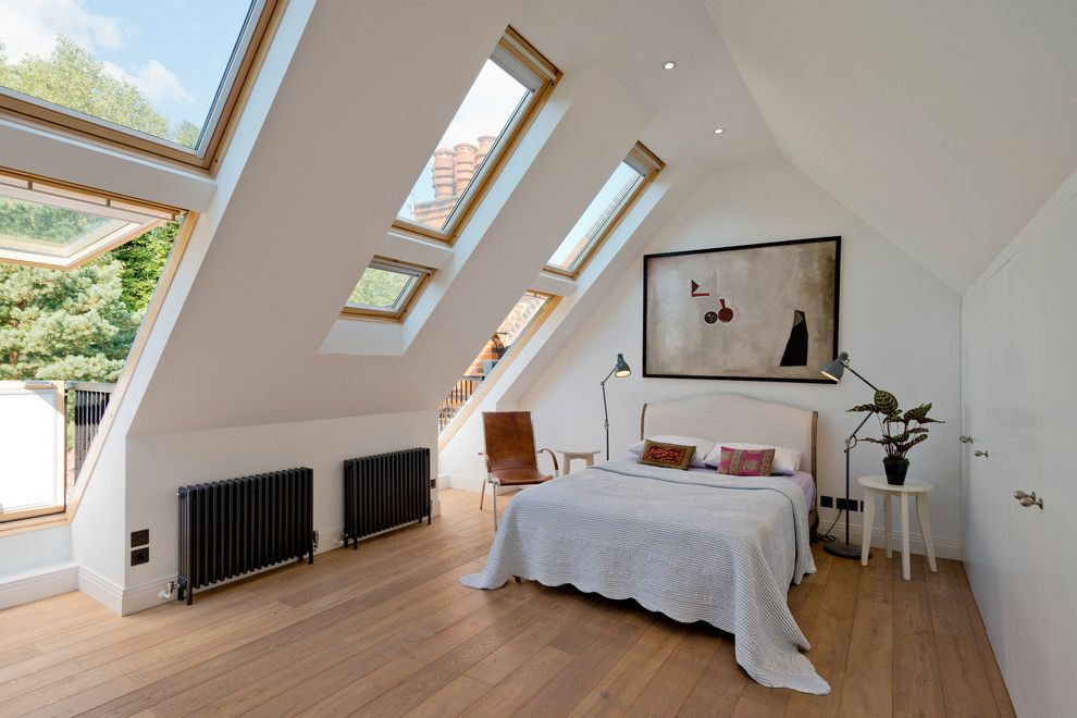 Velux Skylight Sizes   Contemporary Bedroom  and Armchair Awning Windows Bedding Black and White Bedroom Lamps Mens Bedroom Side Table Sloped Ceiling Wall Art