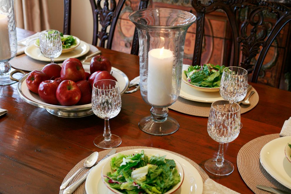 Vietri Dishes   Traditional Dining Room  and Accessories Dining Room Dining Table Glass Italian Pottery Silverware Utensils Vietri