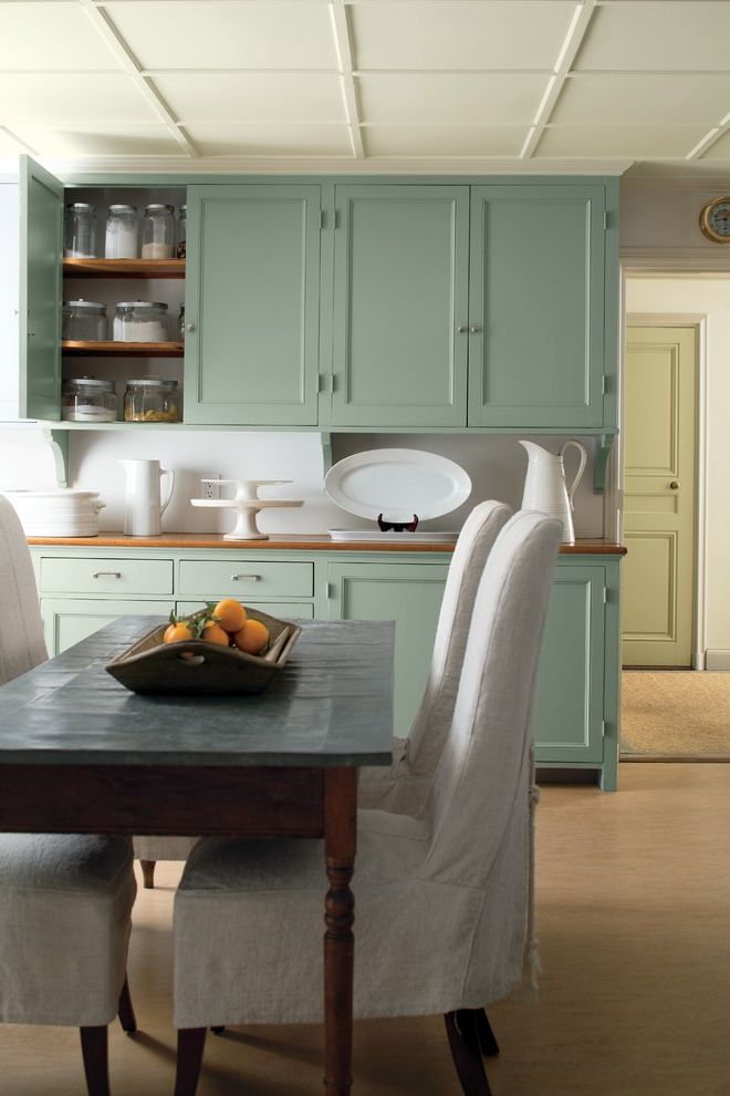 What Color is Jade   Transitional Kitchen  and Transitional