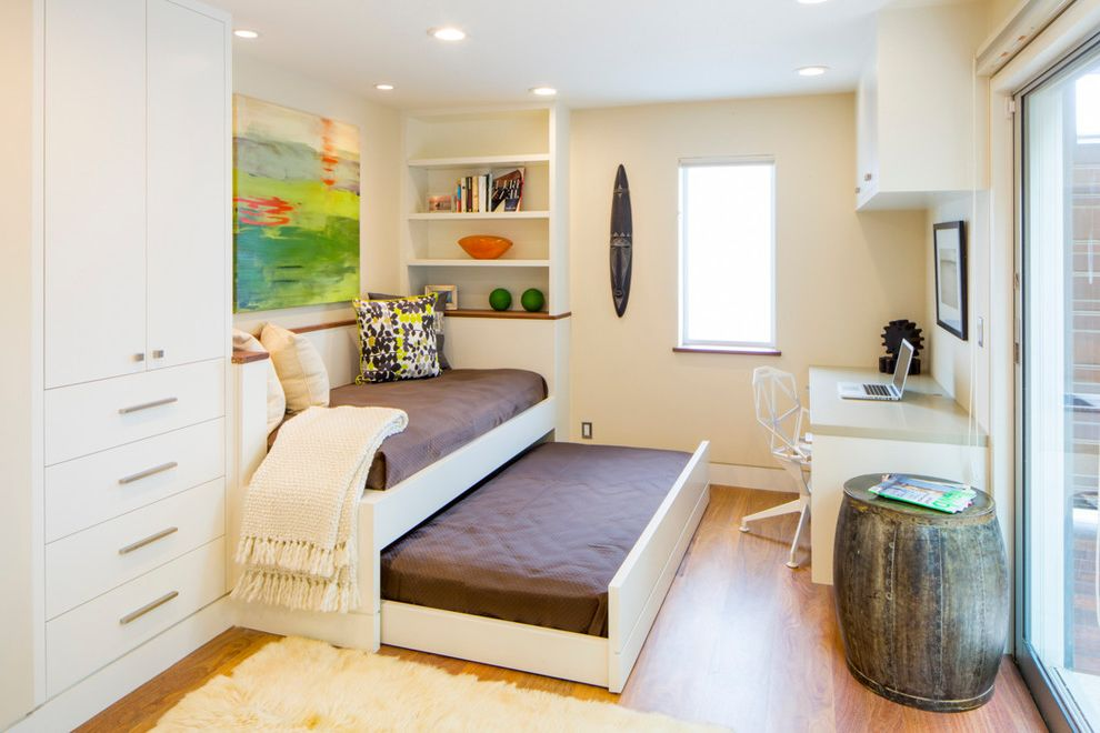 What Size is a Double Bed   Contemporary Home Office Also Barrel Side Table Built in Shelves Colorful Artwork Pull Out Bed Recessed Lighting Sliding Glass Door Trundle Bed Walkout White Blanket