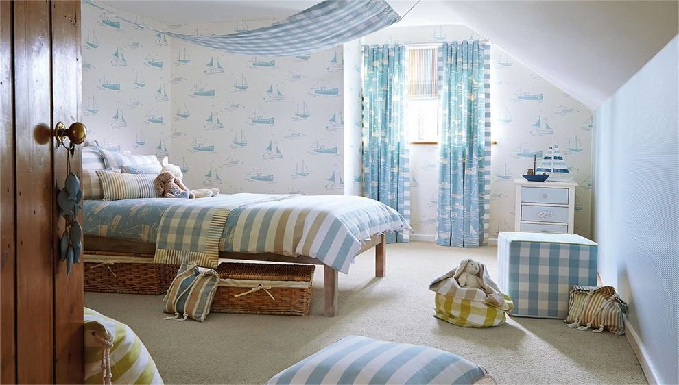 Yacht Bedding    Bedroom Also Blue and White Wallpaper Blue Bedroom Boys Bedroom Boys Bedroom Decorating Boys Wallpaper Light Blue Nautical Wallpaper Under Bed Storage