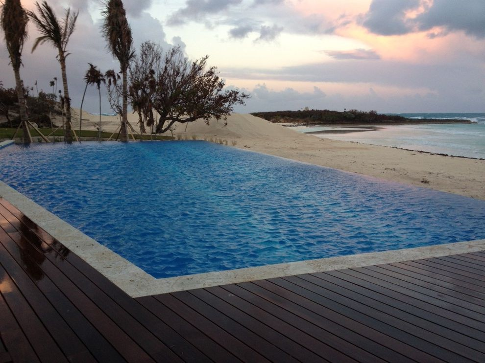 Bakers Bay Bahamas   Beach Style Pool  and Design Only by Tucker Design