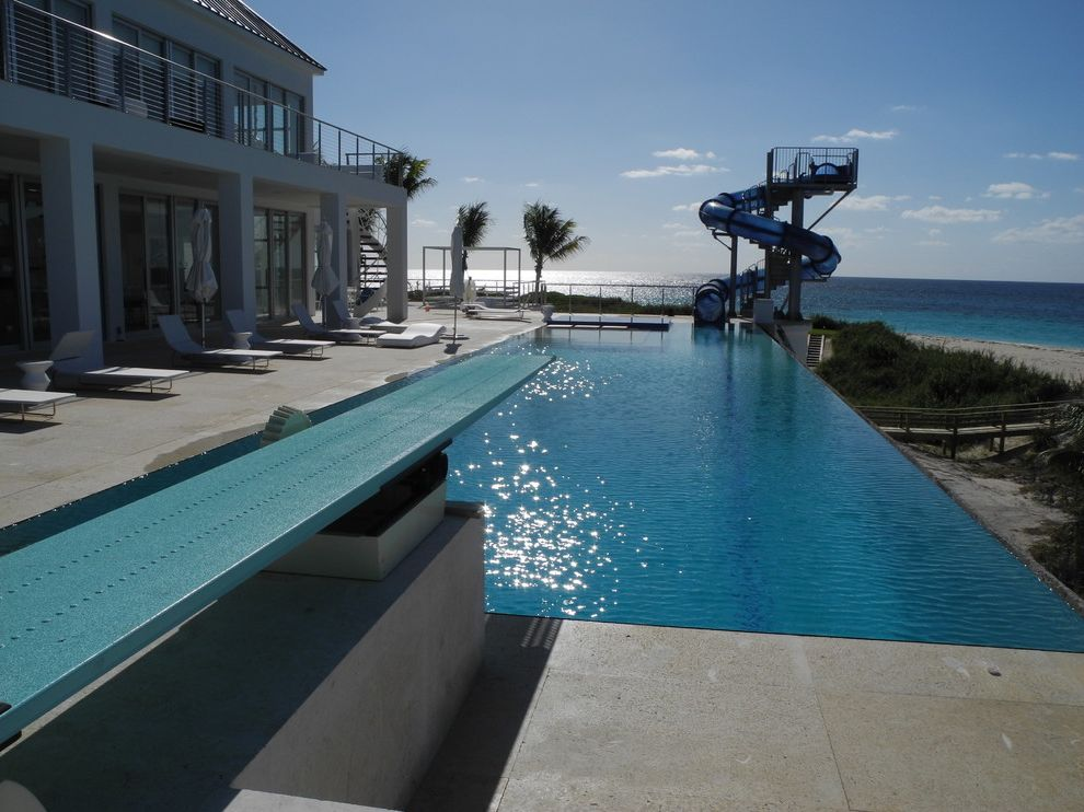 Bakers Bay Bahamas   Contemporary Pool  and Delray Beach Swimming Pools Diving Board and Custom Slide Landscape Architects Designers Palm Beach County Swimming Pool Builders Swimming Pool Builders in Jupiter Tucker Design Build