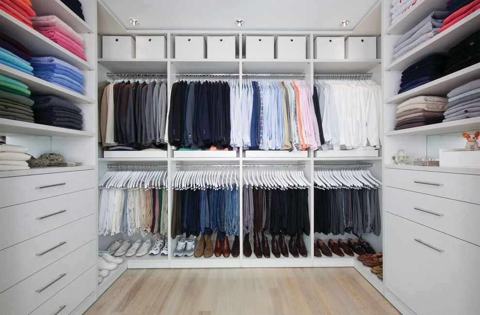 Closets to Go with Contemporary Closet Also Ceiling Lighting Closet Organizers Dressing Room Pants Rack Recessed Lighting Shoe Rack Storage Boxes Walk in Closet Wood Floors