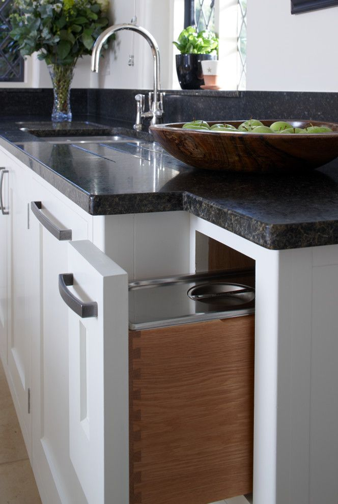 Concord Disposal with Modern Spaces  and Aga Country Kitchen English Oak Kitchen Long Handles Modern Shaker Style Surrey Vegetable Bin Waste Bin White Kitchen