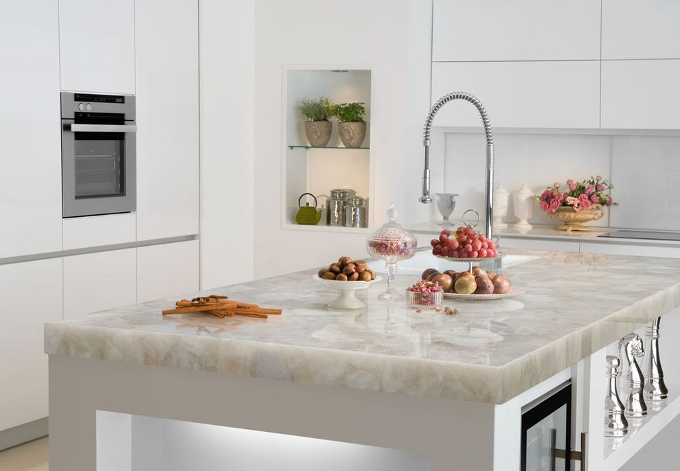Cost of Quartz Countertops   Contemporary Kitchen Also White Quartz White Quartz Countertop