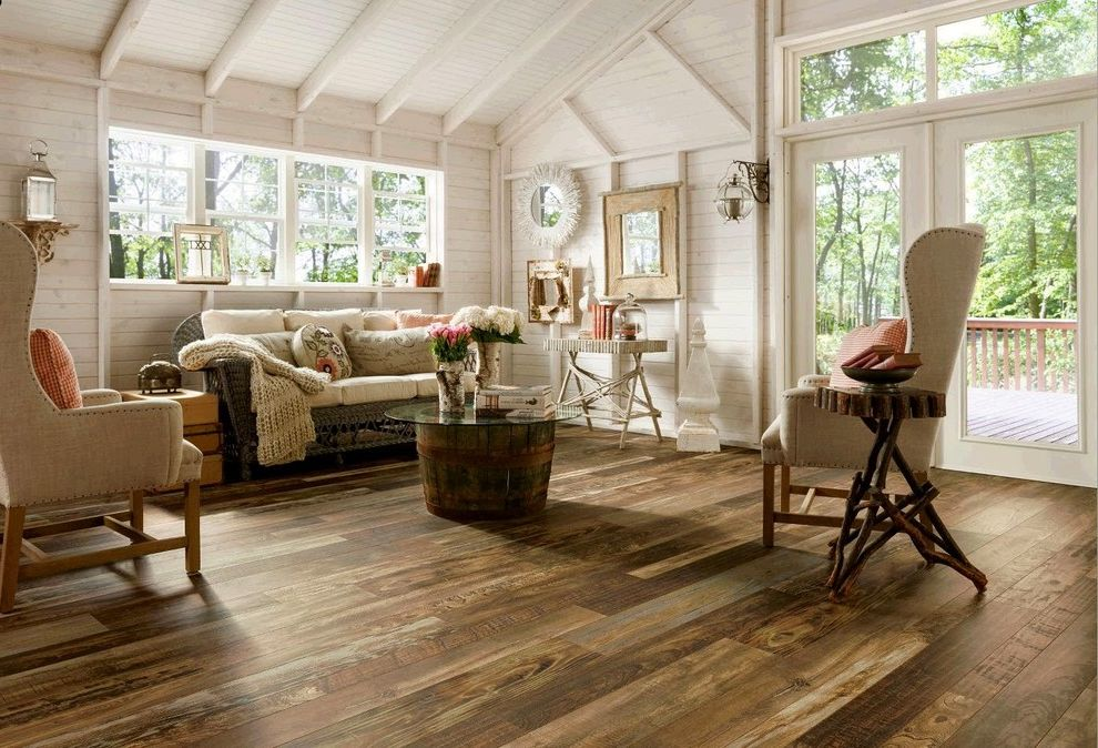 Cost to Install Laminate Flooring with Rustic Living Room Also Accessories Armchairs Balcony Deck Glass Coffee Table Home Decor Paneled Ceiling Paneled Walls Sofa Wall Mirrors Windows