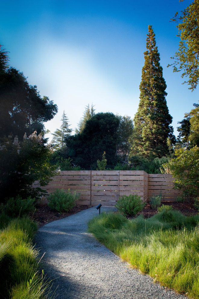 Delta Bluegrass with Farmhouse Landscape Also Cedar Fence Decomposed Granite Path Property Fence