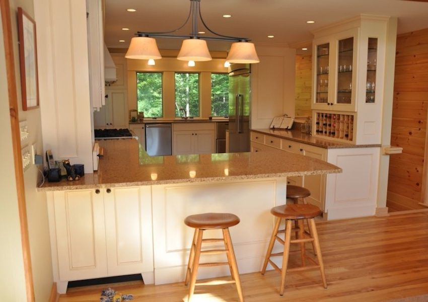 Dunmore Appliance with  Kitchen Also Beige Kitchen Granite Countertops Open Concept Recessed Lighting Stainless Steel Appliances Tile Kitchen Wood Walls