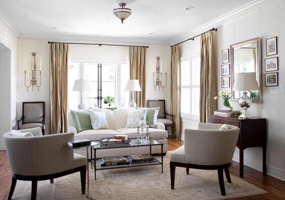 Furniture Stores in Greensboro Nc with Traditional Living Room  and Candle Holder Coffee Table Elegant Gray Grey Hardwood Floor Lamp Mirror Rug Side Table Table Lamps White Sofa