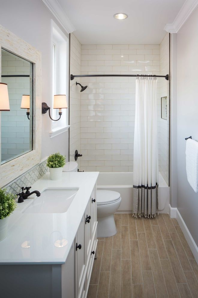Home Depot Bethesda   Transitional Bathroom Also Contemporary Contemporary Kitchen Luxury Single Family Residence Potted Plant Recessed Lighting Spanish Style White Curtains White Distressed Mirror