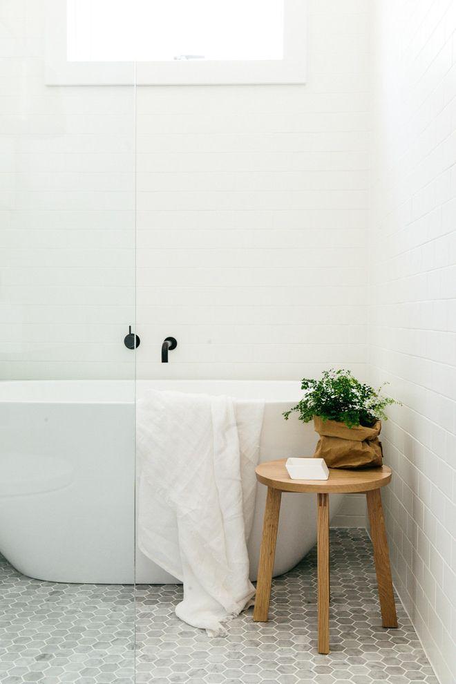 Home Depot Flooring Sale with Scandinavian Bathroom Also Hexagonal Floor Tile Hexagonal Tiles Towel Racks Stands White Bathroom