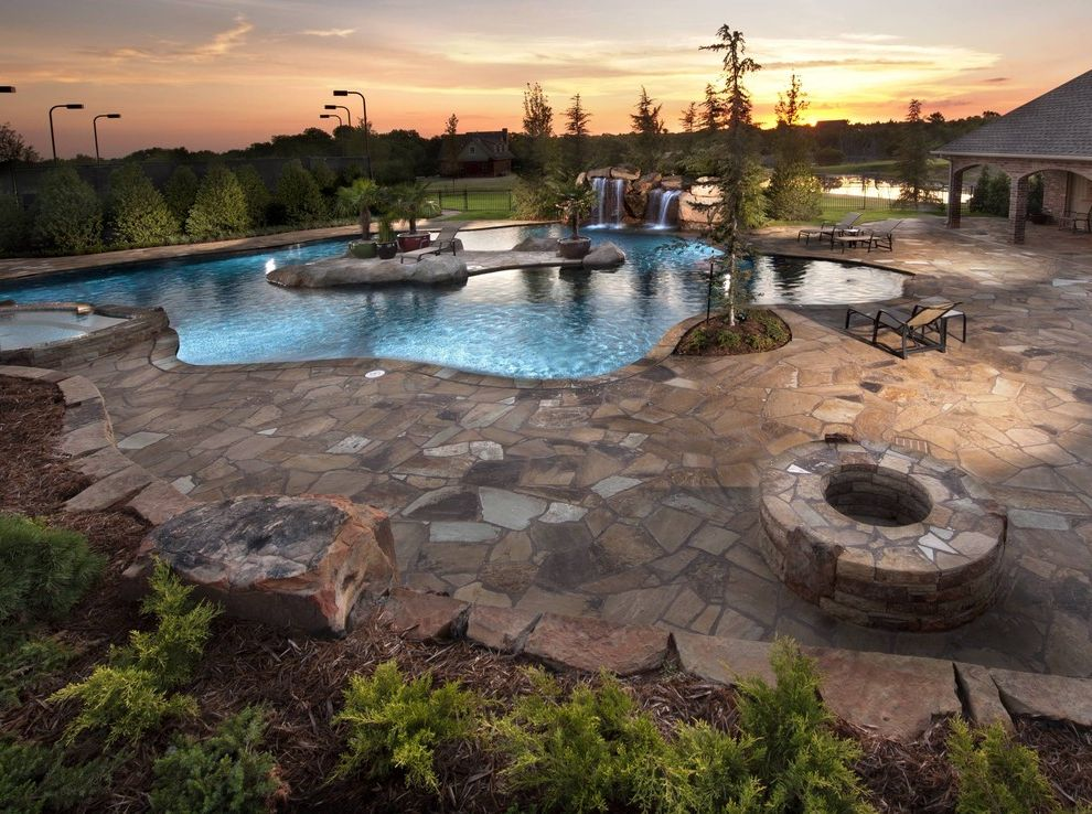 Islander Pools   Tropical Pool  and Beach Entry Caviness Dream House Dream Pools Glass Tile Landscape Design Outdoor Entertaining Outdoor Living Pool Designs Spas Stone Work