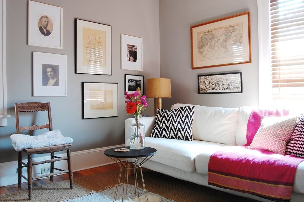 Lowes Asheville with Eclectic Family Room  and Asheville Chalkpaint Chalkpaint Wall Chevron Pillow Eclectic Family Room Gallery Wall Jute Rug Layers Light Gray Walls Modern My Houzz
