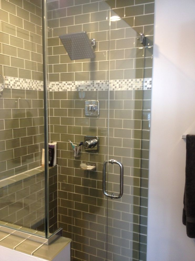 Lowes Milford Ct   Modern Spaces  and Frameless Shower Door Glass Shower Glass Tile Lowes