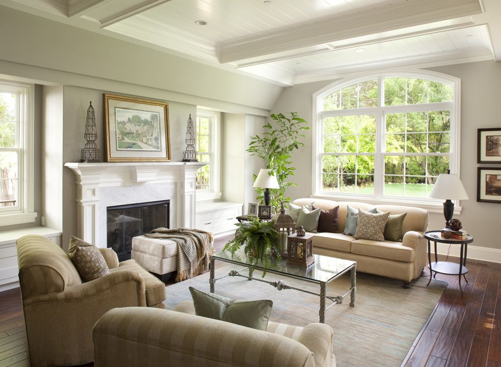 Lowes Ozark Mo with Traditional Family Room Also Arched Window Benjamin Moore Bright Family Room Fireplace Great Room Living Room White Windows