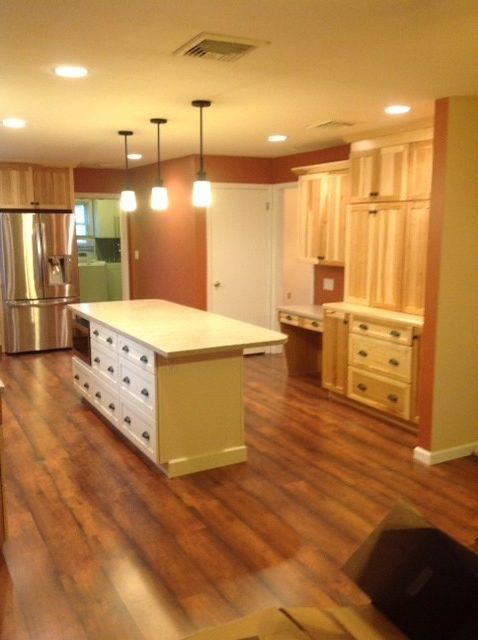 Lowes Reading Pa   Traditional Kitchen  and Flooring Hickory Kitchen