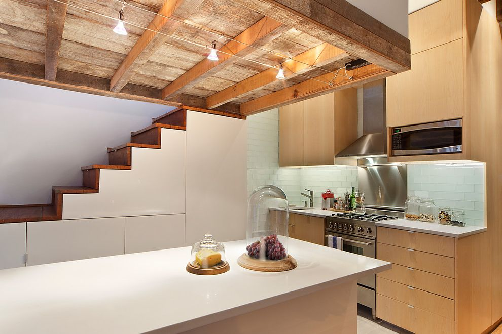 Lucy's Nyc   Industrial Kitchen  and Distress Expose Beams Furniture Design Minimal Modern Rustic