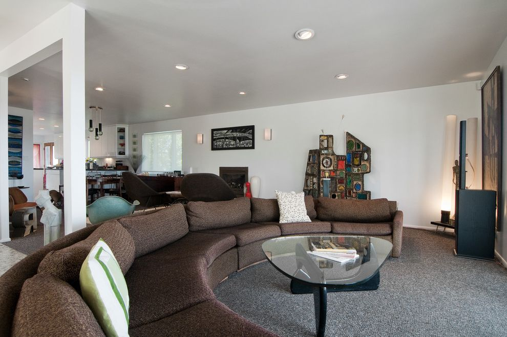 Lucy's Nyc with Midcentury Living Room  and Midcentury