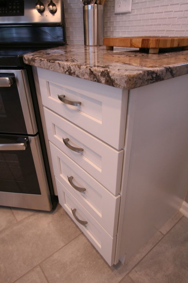 Martins Appliance with Contemporary Kitchen Also Backsplash Glass Tile Bianco Antico Granite Shaker Cabinet White Shaker Cabinets White White Shaker Cabinetry
