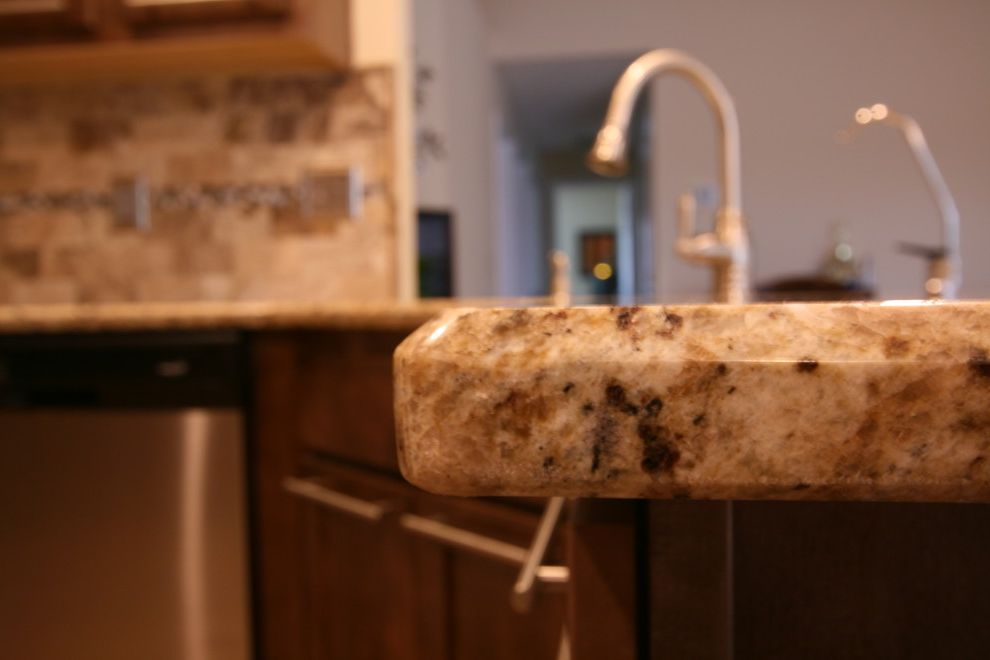 Martins Appliance with Transitional Kitchen Also Beveled Edge Granite Beveled Granite Edge Santa Cecelia Granite
