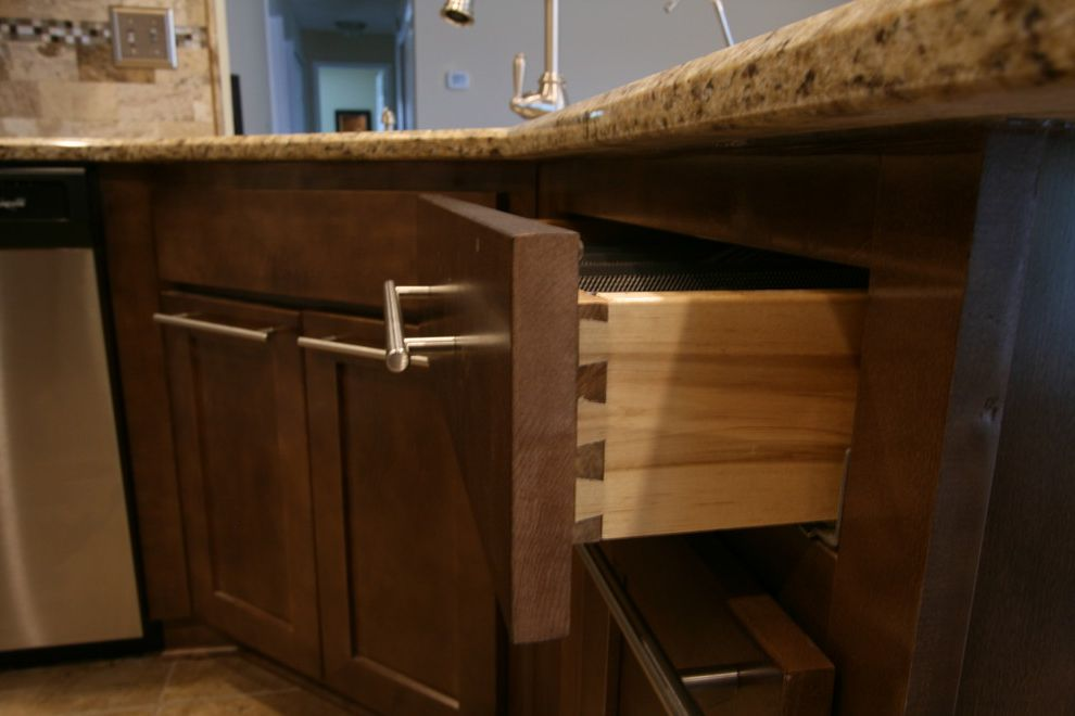 Martins Appliance with Transitional Kitchen Also Dovetailed Drawers Maple Shaker Style Slab Drawer Front Slab Front Drawer