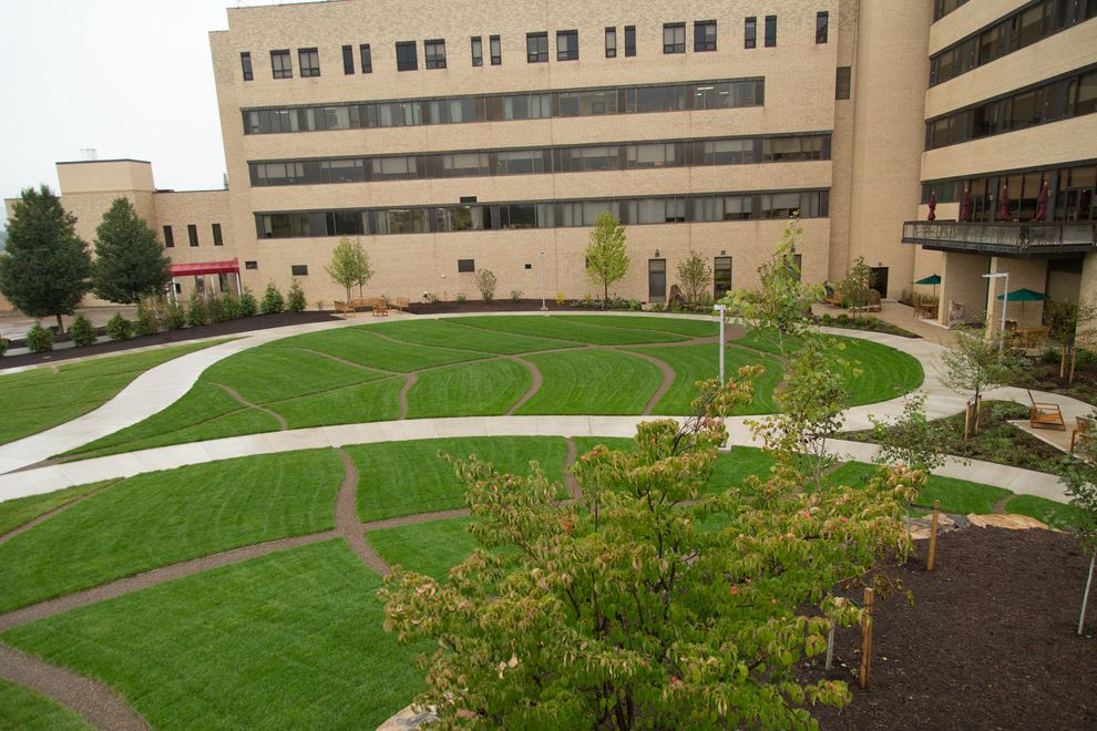 Mt Nittany Medical Center   Modern Landscape Also Healing Hospital Therapeutic