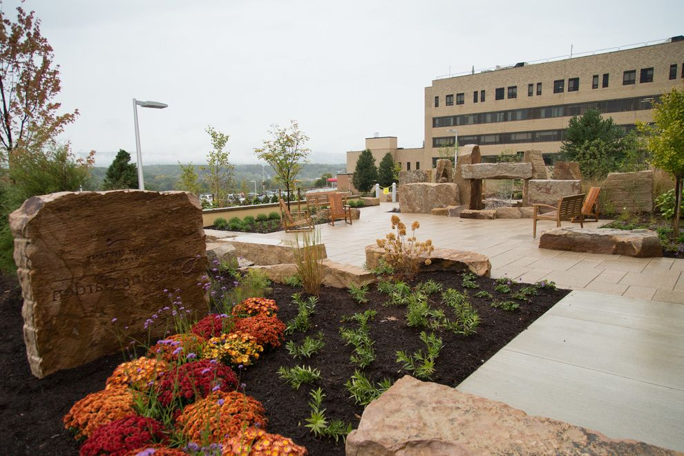 Mt Nittany Medical Center   Modern Landscape  and Healing Hospital Therapeutic