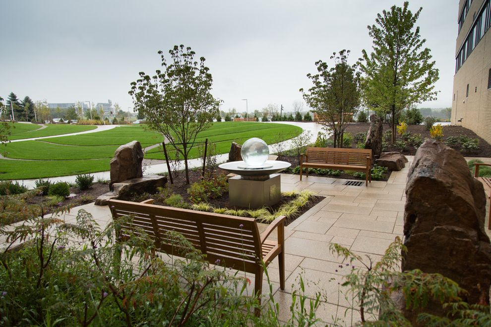 Mt Nittany Medical Center with Modern Landscape  and Healing Hospital Therapeutic