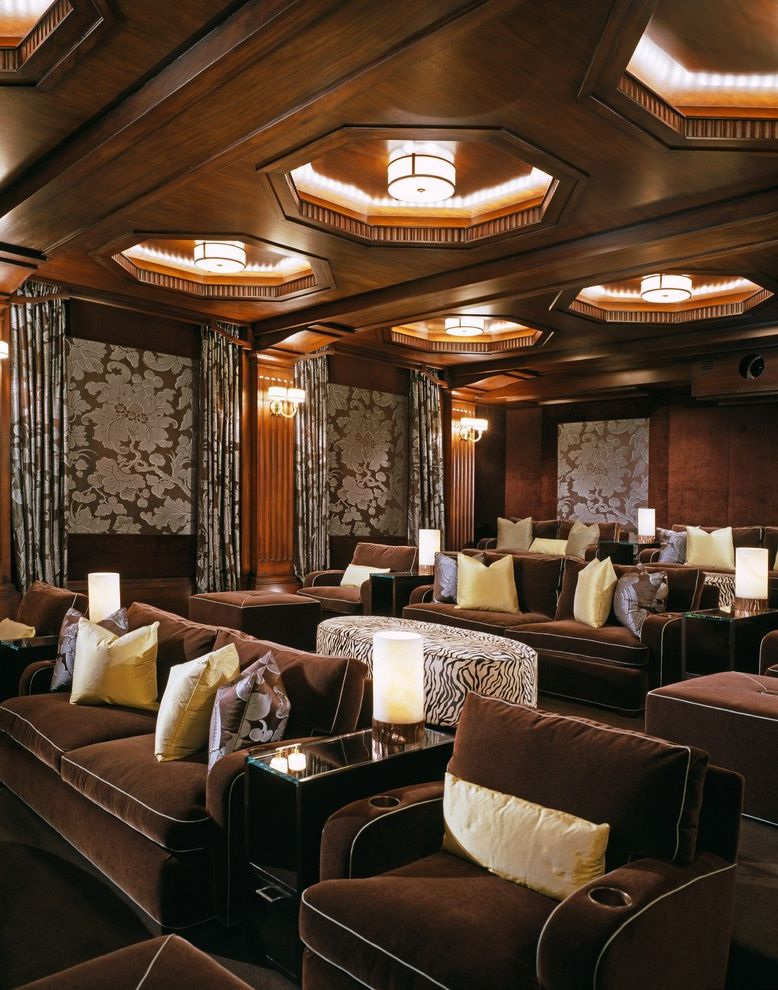 Orland Park Theater with Traditional Home Theater  and Bel Air Circuit Beverly Hills Beverly Park Dsi Entertainment Systems High End Home Theater Home Cinema Home Theater Joan Behnke Landry Design Group Media Room Richard Landry Screening Room