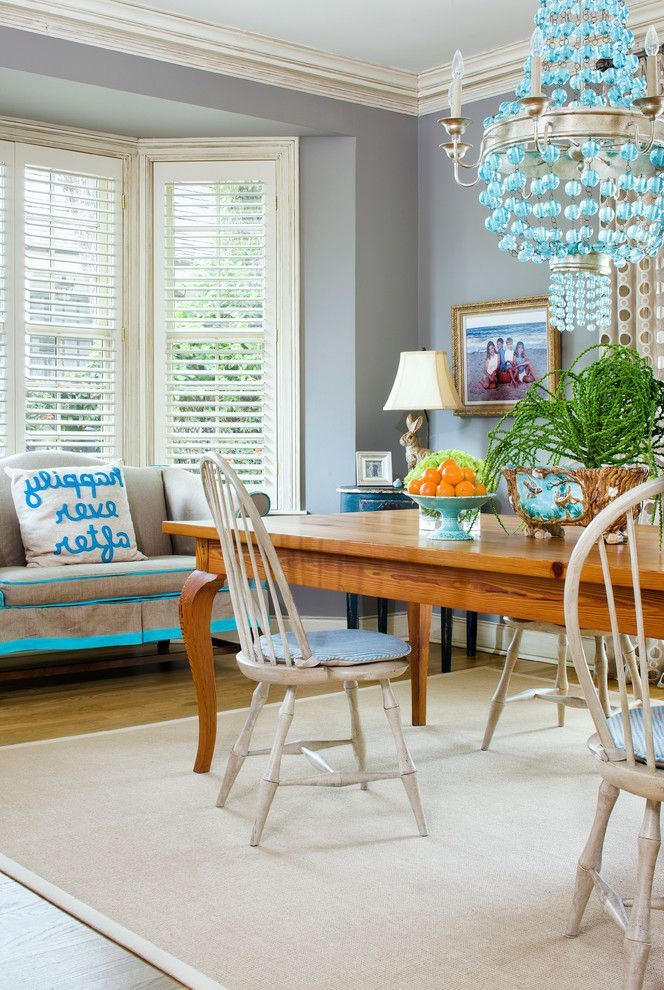 Paint Zoom Reviews   Transitional Dining Room Also Area Rug Blue Blue Lighting Casual Casual Dining Chandelier Dining Area Dining Room Rug Lighting Pillows White Wood Window Treatments Wood Blinds Wood Floors Wood Table