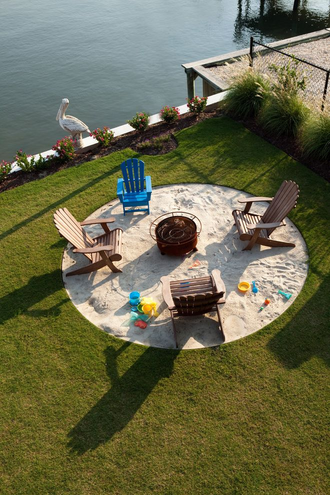 Pioneer Sand and Gravel   Contemporary Landscape Also Adirondack Chair Bucket Builder Cool Fire Pit Firepit Flowers Mark Batson Nc Pelican Play Area Round Patio Sand Sandbox Tongue Groove Waters Edge Wilmington