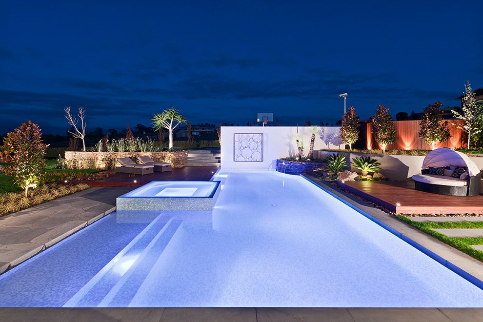 Pools in Nyc with Contemporary Landscape Also Contemporary