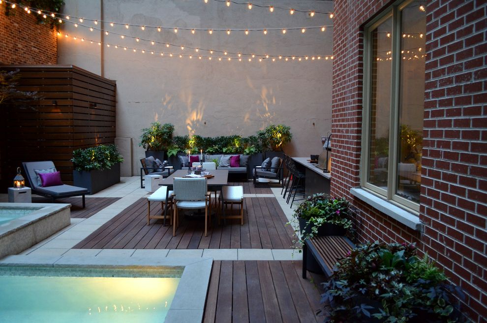 Pools in Nyc with Contemporary Spaces  and Garden Design Nyc Jeffrey Erb Landscape Design Nyc Nyc Backyard Nyc Hot Tub Nyc Outdoor Kitchen Nyc Outdoor Kitchen Island Outdoor Kitchen Pool Nyc Tribeca Garden