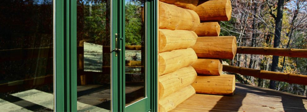 Pullman Building Supply with  Exterior Also Glass Door Green Trim Log Cabin Log Home Mountain House